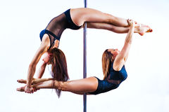 Pole dance team Stock Images
