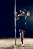 Pole Dance Woman Stock Image
