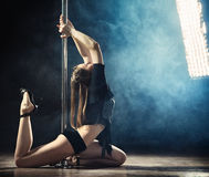 Pole Dance Woman Royalty Free Stock Images