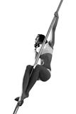 Pole dance woman Stock Photos
