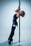 Pole dance woman Stock Images