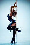 Pole dance woman Stock Image