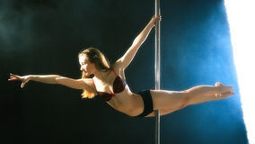 Pole Dance Woman Stock Photography