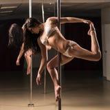Pole dance woman Stock Photos