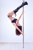 Pole dance woman Royalty Free Stock Photos