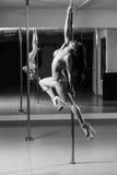 Pole dance woman Stock Images