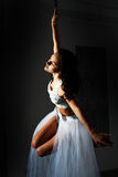 Pole dance woman Royalty Free Stock Photo