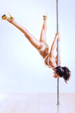 Pole dance woman Stock Photo