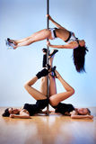 Pole dance women Stock Photo