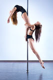 Pole dance women Stock Photography