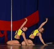POLE DANCE  WORLD CHAMPIONSHIP - Doubles Stock Photo