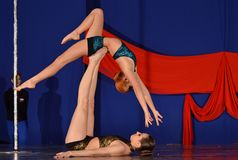 POLE DANCE  WORLD CHAMPIONSHIP - Doubles Royalty Free Stock Photos