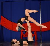 POLE DANCE  WORLD CHAMPIONSHIP - Doubles Royalty Free Stock Images