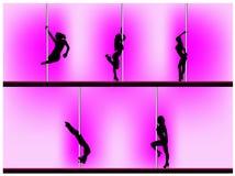 Pole dancer Royalty Free Stock Photos