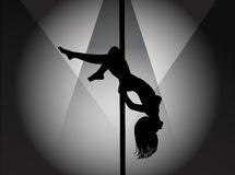Pole dancer Royalty Free Stock Photography