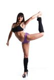 Pole dancer. Royalty Free Stock Photo