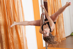Pole dancer Royalty Free Stock Images