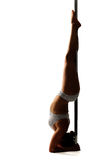 Pole dancer Royalty Free Stock Image