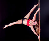 Pole dancer Royalty Free Stock Photos