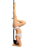 Pole dancer Stock Image