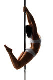 Pole dancer Stock Images