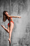 The pole dancer Stock Photography
