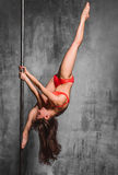 The pole dancer Royalty Free Stock Image