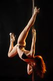 Pole dancer Royalty Free Stock Image
