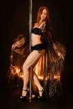 Pole dancer Stock Images