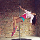Pole dancer Stock Photography
