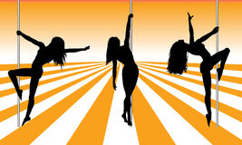 Pole dancers Royalty Free Stock Image