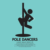 Pole Dancers Graphic Stock Image
