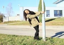 Pole dancing Stock Image