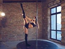 Pole dansare Fotografering för Bildbyråer