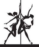 Pole dansarekapacitet Arkivbild