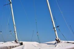 Pole des Segelboots Stockfoto