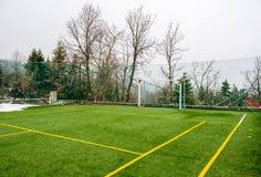 Pole dla piłki nożnej i inny Zdjęcia Stock