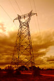 Pole of electricity. In country Stock Photography
