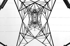 Pole of electricity. Interior perspective Stock Images