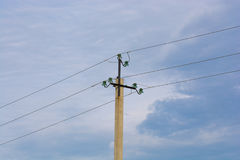 pole elektryczne obraz stock
