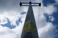 pole energii elektrycznej Zdjęcie Royalty Free