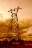 pole energii elektrycznej Fotografia Stock