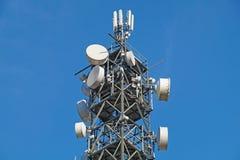 Pole för mobil antenn arkivfoto