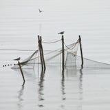 Pole fishing net Royalty Free Stock Photos