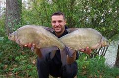 Pole fiske stor bream Royaltyfria Bilder