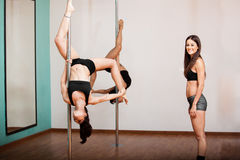 Pole fitness business owner Royalty Free Stock Photos