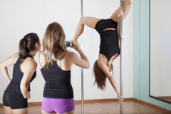 Pole fitness demonstration Royalty Free Stock Photos