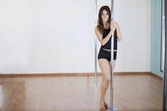 Pole fitness is fun Stock Photo