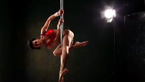 Pole Fitness stock video footage