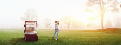 Pole golfowe mężczyzna Zdjęcia Royalty Free